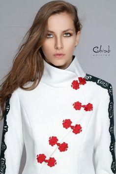 Matyómintákkal díszített rövid kabát, Eninied, meska.hu #hungarian #coat #matyo Chic, My Style, Style Fashion, Pattern, Jackets, Traditional, Modern, Shabby Chic, Down Jackets
