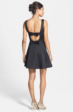 Such cute back bows | Jacquard Fit & Flare Dress