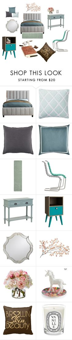"""""""For home - bedroom"""" by thalia-ishmatningtyas on Polyvore featuring interior, interiors, interior design, home, home decor, interior decorating, Serena & Lily, Pom Pom at Home, Pier 1 Imports and Gufram"""
