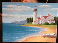 Cuadro al óleo - Pintado por mi - 2010     Este cuado se lo hice para unos amigos que querían una marina. Firmé e...