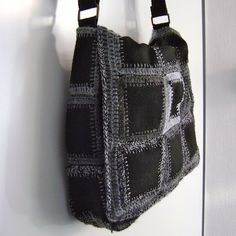 purse tutorial - could use upcycled felted wool sweaters