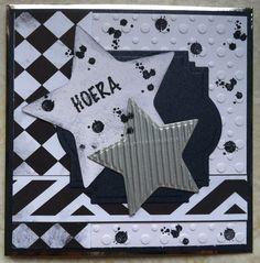 Zwart/wit, Hoera made by Sjoukje