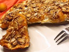 Marhuľovo-tvarohový koláč z mandľovej múky