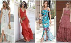 31 Vestidos Largos Para el Verano para lucir Sofisticada y Fresca (2019) Carolina Herrera, Dresses, Fashion, Dama Dresses, Long Gowns, Pink Princess, Linen Blouse, Sew Pattern, Dressmaker