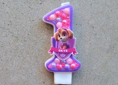 Skye birthday candle / Paw patrol birthday candle / Birthday