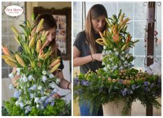 Orit Hertz - Floral Design School - Private lesson - reception design