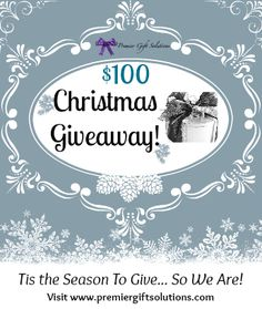 In the mood for a giveaway?  We are!  Enter our 100 dollar Christmas Giveaway and register to win a 100 dollar gift for the holidays! Contest ends December 14th, 2012 so hurry!