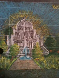 Wilmette-Baha'i House of Worship drawing by ~Sholeh-of-Unity on deviantART