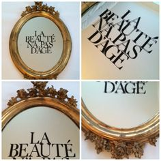 "Imported antique french gilded mirror ""Beauty has no age"""