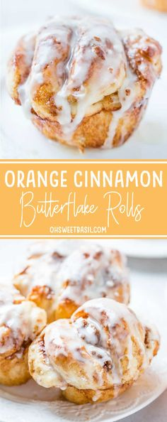 Oh. Sweet. Mercy. These orange cinnamon butterflake rolls made with Rhodes Rolls are my new favorite thing. That cinnamon butter filling is heaven! via @ohsweetbasil