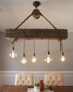 The David Chandelier is a unique rustic, farmhouse design. It is most suita. - The David Chandelier is a unique rustic, farmhouse design. It is most suitable for islands, ba - Farmhouse Dining Room Lighting, Farmhouse Chandelier, Dining Lighting, Rustic Chandelier, Rustic Lighting, Kitchen Lighting, Edison Bulb Chandelier, Farmhouse Lamps, Kitchen Ceiling Lights