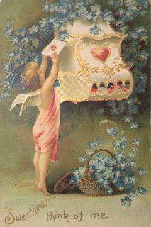 День Святого Валентина . Старинные открытки.