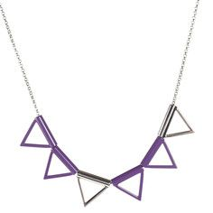 Six Triangle Necklace Purple, $18, now featured on Fab.