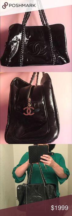 Authentic Chanel Luxe Ligne Tote Perfect condition patent leather Chanel Luxe Ligne Tote. For sale. Can do lower on 🅿️🅿️ CHANEL Bags Totes