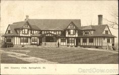 CC Springfield, IL Springfield Illinois, Vintage Postcards, Trips, Past, Golf, Cabin, History, Country, House Styles