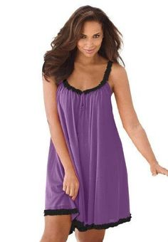 Plus Size plus size nighties Only Fashion, Plus Size Fashion, Womens Fashion, Plus Size Nighties, French Lilac, Beauty Full, Ruffle Trim, Plus Size Women, Plus Size Outfits