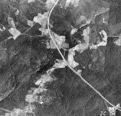 1938 Aerial View Anneewakee, Lower River, Fairburn roads & hwy 166/92