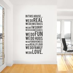 Fancy - In This House We Do Wall Sticker