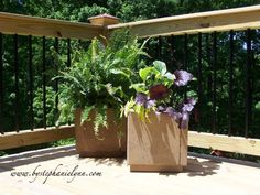 planters made with pavers
