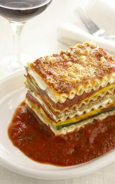 Vegetarian Lasagna With Goat Cheese