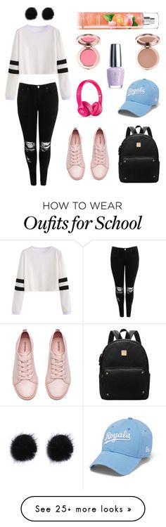 """School outfit"" by hannahgarabito on Polyvore featuring Boohoo, H&M and OPI"
