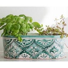 Mint Oval Planter