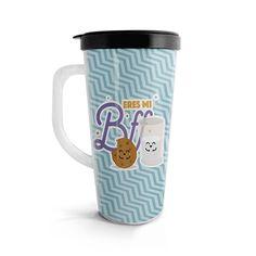 Vasito viajero – Eres mi Bff Galleta y leche, encuentra este producto en nuestra tienda online. Travel Mug, Bff, Mugs, Cali, Tableware, Gifts, Vases, Milk, Cookies