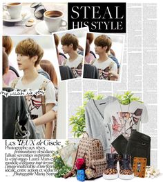 """Steal His Style: EXO-M Luhan"" by eraining ❤ liked on Polyvore"