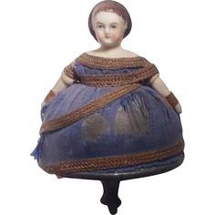 Early and rare china doll spinning top, Toupie Brevette SGDG from sarah-sellers on Ruby Lane