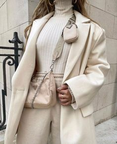 Winter White Outfit Inspo #fashion #winterwhite #coat