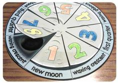 Moon phases foldable image 2 - use in planting guidelines for seeds Fourth Grade Science, Kindergarten Science, Middle School Science, Elementary Science, Science Classroom, Teaching Science, Moon Activities, Science Activities, Science Projects