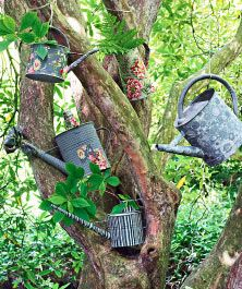Garden Crafts - Glamorous galvanised cans