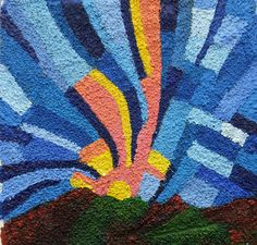 Rays (sandpaper painting )