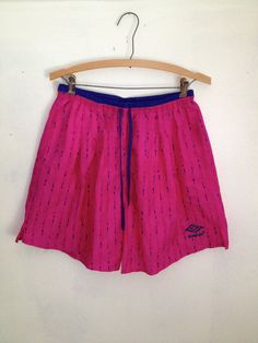 90s Neon Pink Sporty Shorts by thatVideoVAMPvintage on Etsy, $24.00