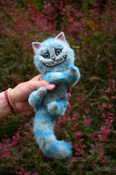 Cheshire Cat Realistic toy by MonkeyBusinessToys. Fantasy creatures toys from faux fur and polymer clay. Mystical Stuffed Animals toys for collectibles and home decorations. Realistic plush beasts toys for kids and adult toys