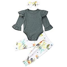 Memela Baby Clothes,Toddler Long Sleeve Basic Tee Ruffles Candy Color Tops Solid T Shirts Clothes