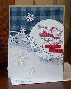 Laura's Works of Heart: SPIRITED SNOWMEN CARD: