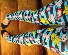 Nightmare Before Christmas kawaii stripe Leggings by thegeekgarden