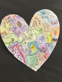 Poetry- Mapping of the Heart-- Great way to kick off the unit!