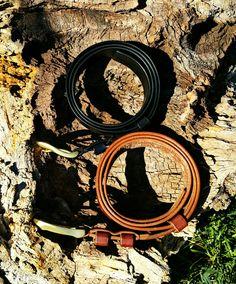 Leather belt. Brass buckle. Hand made. Bacau - Romania