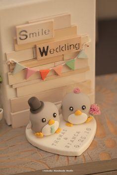 Pastel de cumpleaños de pingüinos por kikuike en Etsy