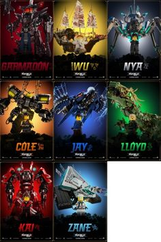 character posters ninjago eight movie lego new for the Eight New Character Movie Posters For The LEGO NINJAGO MovieYou can find Lego ninjago and more on our website Lego Ninjago Cake, Lego Ninjago Lloyd, Ninjago Kai, Ninjago Memes, Ninjago Party, Lego Ninjago Movie, Lego Movie, Ninjago Cole, Legos