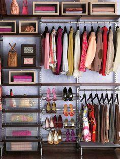 Home Buying Help – Money Management Tools – Home Decorating Ideas – Free Recipes Closet Bedroom, Closet Space, Pink Closet, Elfa Closet, Closet Wall, Closet Doors, Master Closet, Huge Closet, Curtain Closet