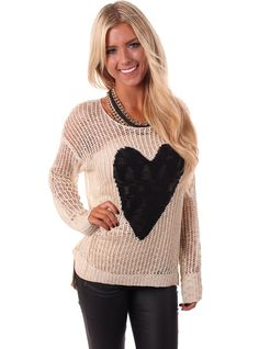 Lime Lush Boutique - Knit Pullover Heart Sweater, $44.99 (http://www.limelush.com/knit-pullover-heart-sweater/)