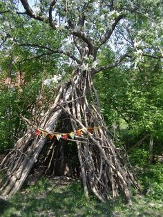 Billedresultat for diy natural outdoor tepee