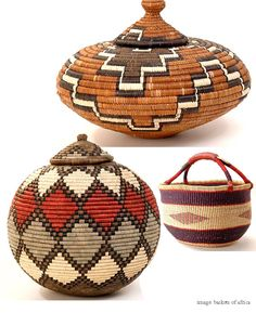 African baskets - African baskets The Effective Pictures We Offer You About diy home decor A quality picture can tel - African Interior, African Home Decor, Native American Baskets, Native American Art, African Design, African Art, Basket Weaving, Hand Weaving, Woven Baskets