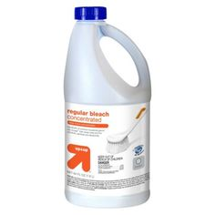 up & up™ Regular (nscented)  Concentrated Bleach 64 oz MSDS saftey sheet says contains 6.0-7.0% sodium hypochlorite  no other active ingredients