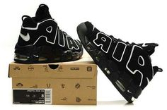 NBA Basketball Nike Air More Uptempo Black - Scottie Pippen Shoes 45b0c5473
