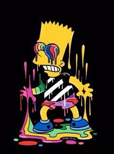 Fondos de Pantalla Para Celular - Bart - Trippin', The Simpsons - Wallpaper World Simpson Wallpaper Iphone, Trippy Wallpaper, Graffiti Wallpaper, Cartoon Wallpaper Iphone, Sad Wallpaper, Simpsons Drawings, Simpsons Art, Cartoon Drawings, Dope Wallpapers