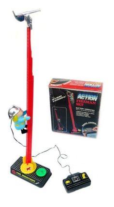 ACTION FIREMAN SET giocattolo vintage giocattolo di arrampicata vigile del fuoco